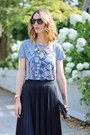Heather-gray-graphic-tee-jcrew-shirt-black-clutch-brahmin-bag