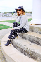 black checked French Connection pants