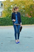 blue skinny J Brand jeans - navy schoolboy JCrew blazer