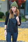 Heather-gray-ankle-boots-sole-society-boots-black-leather-luluscom-sweater