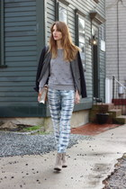 heather gray silk Gypsy05 pants - heather gray ankle Sole Society boots
