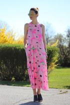 hot pink poppy silk maxi French Connection dress