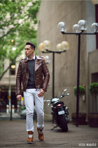 brown brown biker Boda Skins jacket