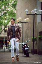 brown brown biker Boda Skins jacket