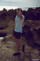 black black SAXONY shorts - black rayban sunglasses