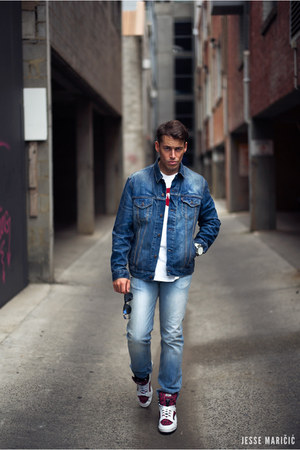 blue dark blue denim Levis jacket - 511 Levis jeans