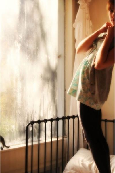 oooolld dress - Urban Behaviour vest - H&M tights