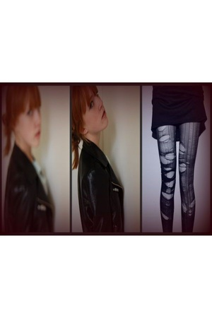 H&M jacket - DIY tights