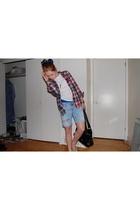 American Eagle shorts - rumors shirt - American Apparel shorts - Aldo purse