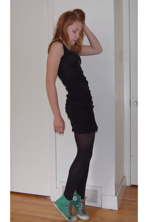 American Apparel dress - Converse shoes - American Apparel tights
