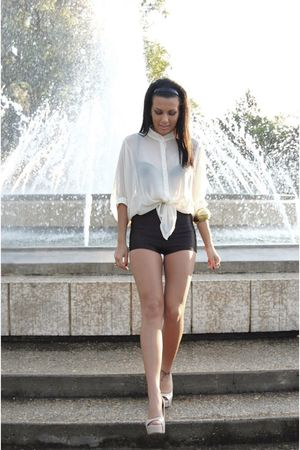 American Apparel shorts - Aldo shoes - urban behavior blouse