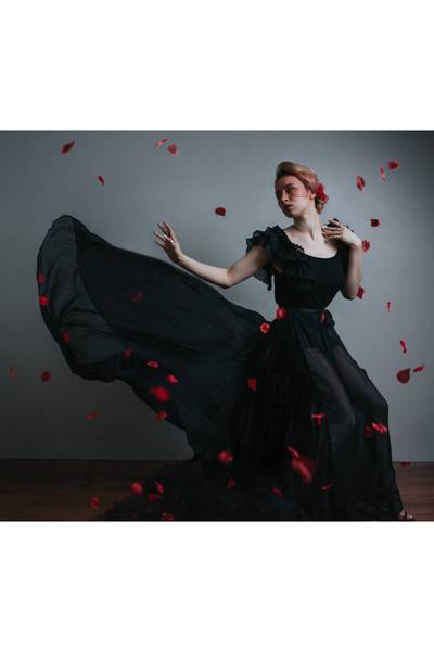 black Vero Moda top - black Evan Ducharme skirt