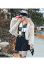 White-faux-fur-unif-jacket-black-zerouv-sunglasses