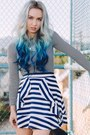 Black-striped-old-navy-top-blue-striped-style-moi-skirt
