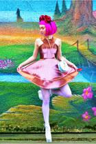 bubble gum Topshop dress - white Jeffrey Campbell heels