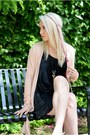 Black-velvet-black-milk-clothing-dress-light-pink-yest-cardigan