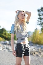 silver sugarhill boutique t-shirt - turquoise blue TUK FOOTWEAR sneakers