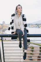 black style moi jacket - navy Old Navy pants - black YRU sneakers
