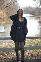 black vintage dress