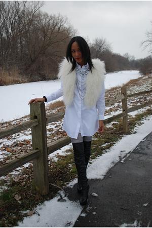 white Zara vest