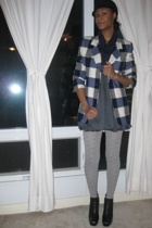 escada blazer - forever 21 dress - Target tights - sam edelman boots - Urban Out