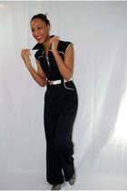 black vintage suit
