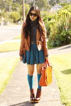 turtleneck Sparkle and Fade jumper - betsey jonhson boots - Zara Trf jacket