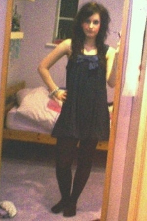 anastasia dress - Marks and Spencers tights - DKNY