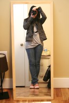 BDG jacket - garage top - Hurley jeans - vintage shoes
