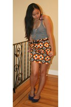 American Apparel top - Zara skirt - roberto vianni shoes - Aldo accessories