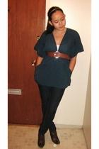 Zara top - H&M belt - H&M shoes - American Apparel accessories - Bongo jeans