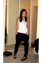 American Apparel top - Zara pants - payless shirt