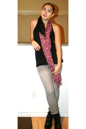 Ella Moss top - Urban Outfitters scarf - H&M boots