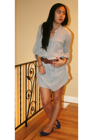 Zara dress - H&amp;M belt - roberto vianni shoes