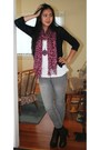 Black-h-m-cardigan-white-zara-t-shirt-pink-h-m-accessories-pink-urban-outf
