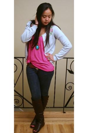 t-shirt - Bayo jacket - cutesygirlcom boots