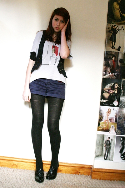 Topshop jacket - Topshop shirt - Topshop shorts - Primark shoes