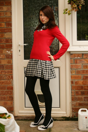 Dorothy Perkins sweater - Topshop dress - barratts shoes - found accessories