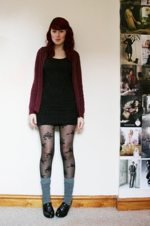 flea market sweater - H&M dress - Accessorize tights - new look socks - Primark