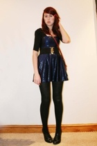 River Island top - American Apparel dress - H&M belt - Urban Outfitters accessor