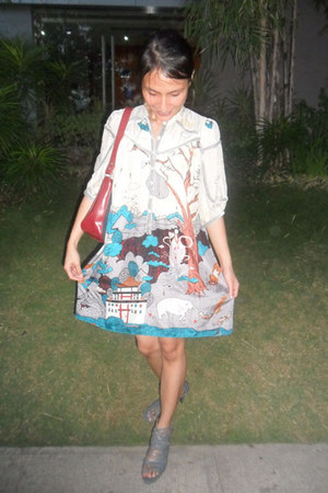 Tsumori Chisato dress - MarithFranois Girbaud bag - twinkle by otto heels