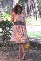 skirt as dress dress - bag - belt