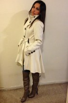white Steve Madden coat