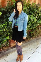 abercrombie and fitch shirt - ankle boots Shoedazzle boots