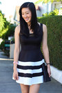 Black-and-white-charlotte-russe-dress
