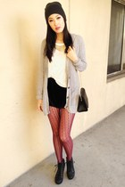 knitted Forever 21 scarf - booties Charlotte Russe boots