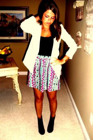 H&M boots - H&M blazer - Forever 21 skirt