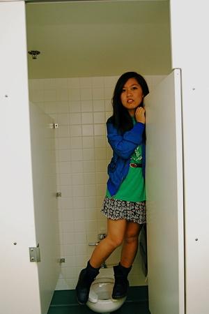 Converse jacket - vintage valentino belt - thrifted skirt - doc martens shoes