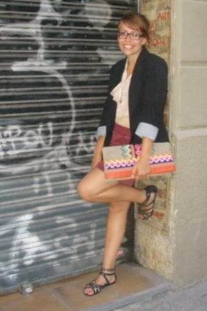 Zara blouse - American Apparel skirt - Uterque purse