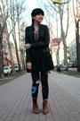 Bronze-zara-shoes-black-lefties-jacket-black-versace-leggings